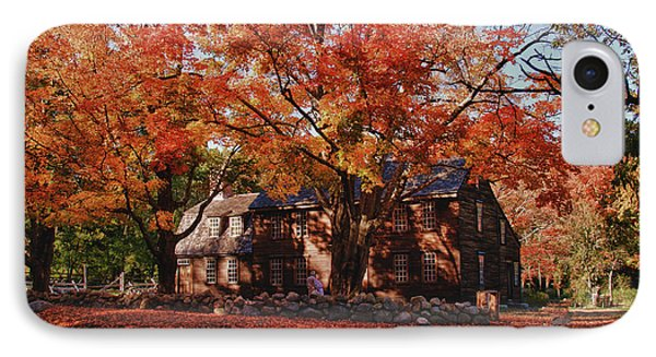 IPhone Case featuring the photograph Hartwell Tavern Under Canopy Of Fall Foliage by Jeff Folger