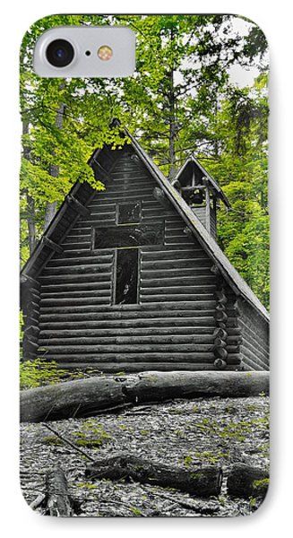 Hartwick Pines Chapel Bwg IPhone Case by Daniel Thompson