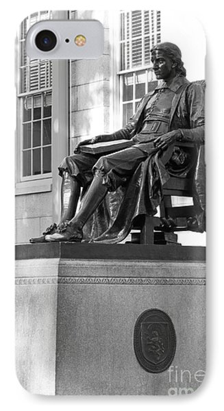 John Harvard Statue At Harvard University IPhone 7 Case by University Icons