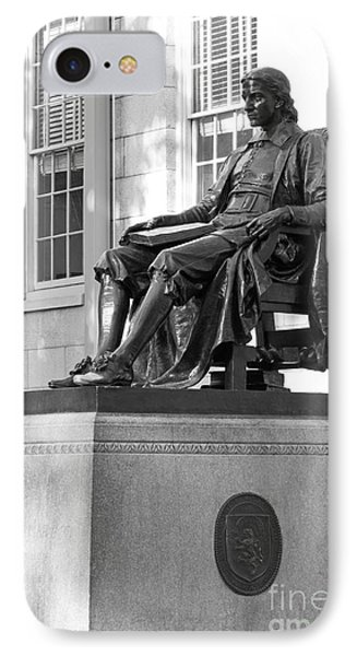 John Harvard Statue At Harvard University IPhone Case by University Icons