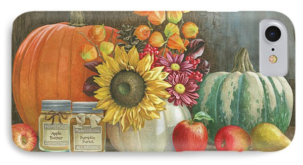 Harvest Bench IPhone Case by Beth Grove