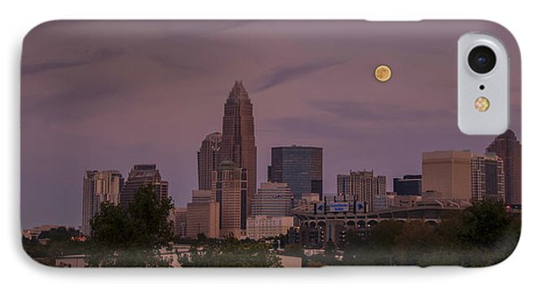 Harvest Moon Over Charlotte IPhone Case by Serge Skiba
