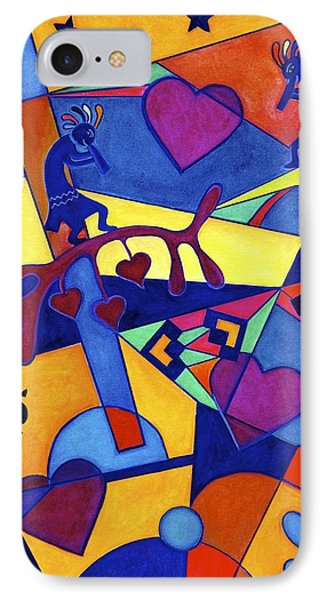 Harvesting The Love Kokopelli Art  IPhone Case by Lori Miller