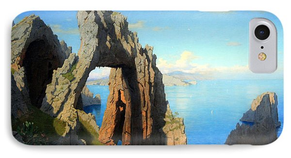 Haseltine's Natural Arch At Capri Phone Case by Cora Wandel