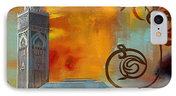Hassan 2 Mosque IPhone Case by Corporate Art Task Force