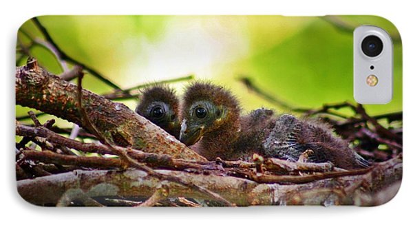 IPhone Case featuring the photograph Hoatzin Hatchlings In The Amazon by Henry Kowalski