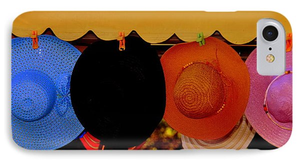 IPhone Case featuring the photograph Hats Of Many Colors by Caroline Stella