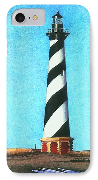 Hatteras Lighthouse IPhone Case by Karen Rhodes