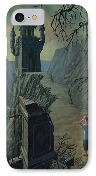 Haunted Castle Nightmare Phone Case by Martin Davey