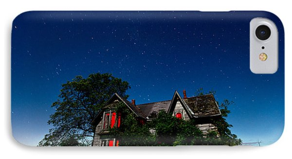 Haunted Farmhouse At Night Phone Case by Cale Best