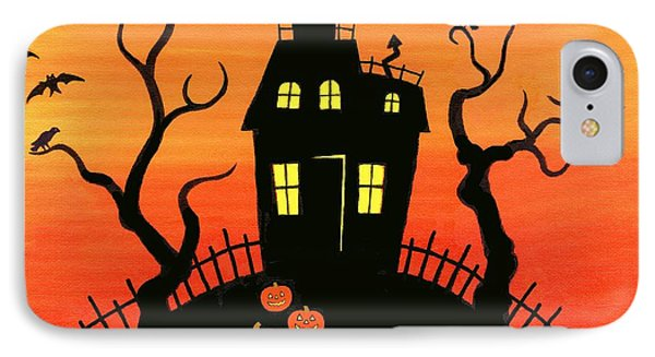 Haunted House Part One Phone Case by Linda Mears