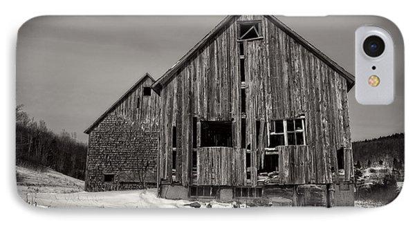 Haunted Old Barn IPhone Case by Edward Fielding
