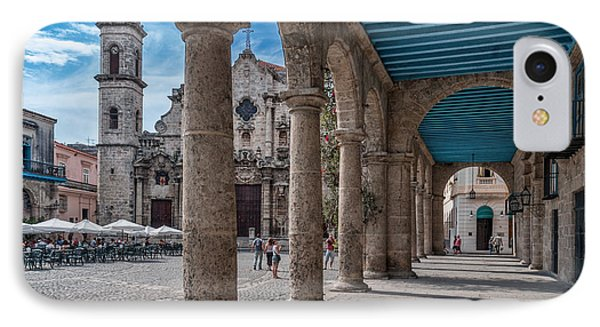 Havana Cathedral And Porches. Cuba Phone Case by Juan Carlos Ferro Duque