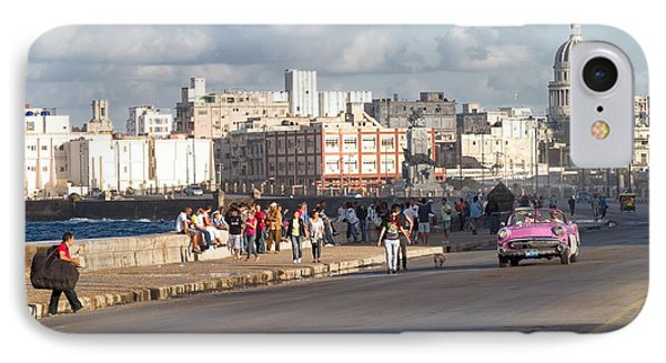 Havanna - Malecon IPhone Case by Juergen Klust