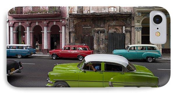 IPhone Case featuring the photograph Havanna Traffic by Juergen Klust