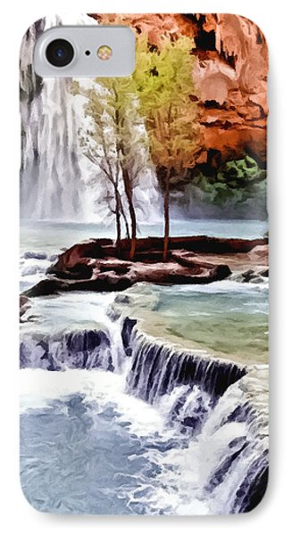 Havasau Falls Painting IPhone Case by Bob and Nadine Johnston
