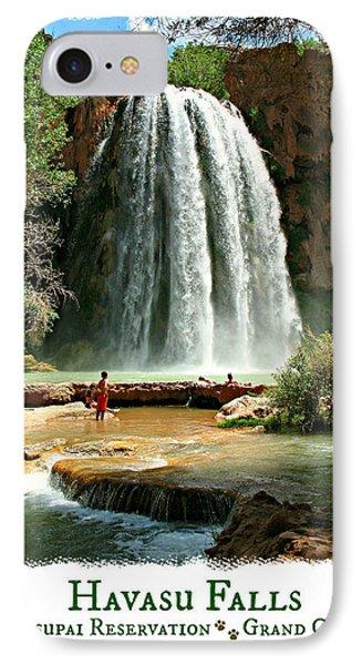 Havasu Falls - Poster IPhone Case by Stephen Stookey