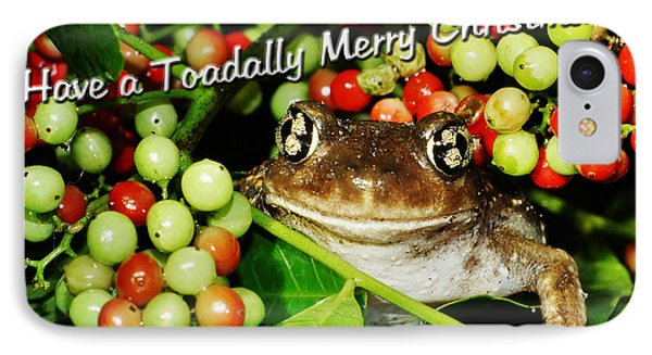 Have A Toadally Merry Christmas IPhone Case by Lynda Dawson-Youngclaus