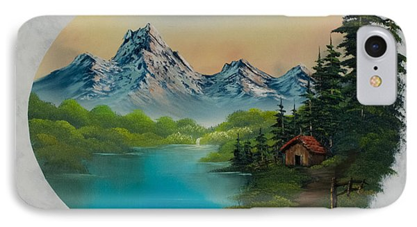Cabin In The Valley IPhone Case by C Steele