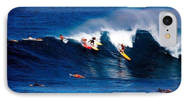Hawaii Oahu Waimea Bay Surfers Phone Case by Anonymous