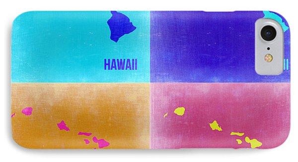 Hawaii Pop Art Map 2 IPhone Case by Naxart Studio