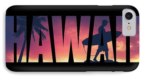 Hawaii Postcard IPhone Case by Mr Doomits