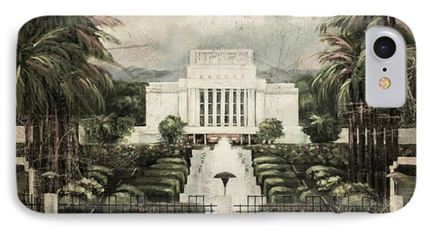 Hawaii Temple Laie Antique IPhone Case