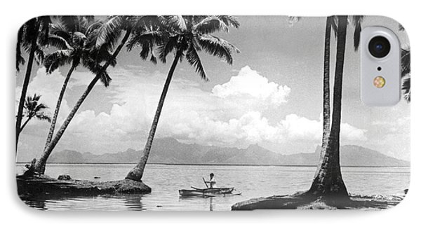 Hawaii Tropical Scene IPhone Case by Underwood Archives