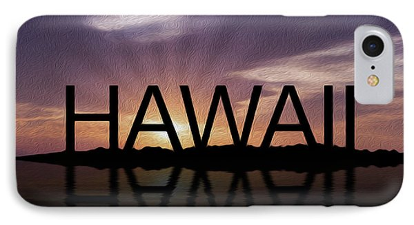 Hawaii Tropical Sunset Phone Case by Aged Pixel