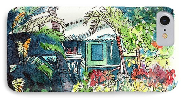 Hawaiian Cottage 3 IPhone Case by Marionette Taboniar