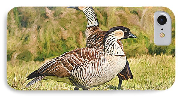 Hawaiian Goose Couple IPhone Case