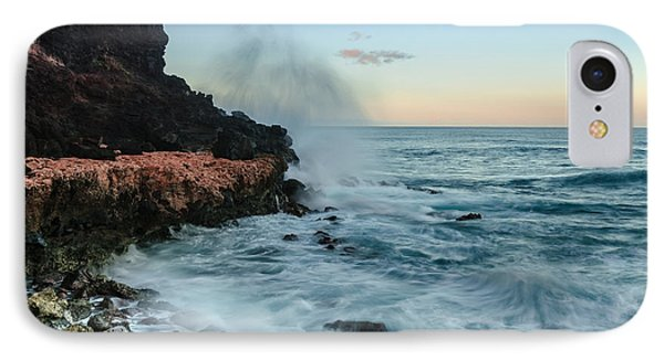 IPhone Case featuring the photograph Hawaiian Lava Rocks And Crashing Waves by RC Pics