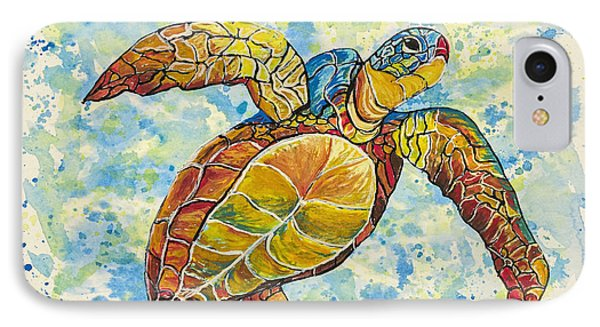 IPhone Case featuring the painting Hawaiian Sea Turtle 2 by Darice Machel McGuire