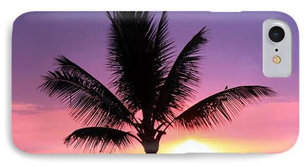Hawaiian Sunset And Palm IPhone Case by Karen Nicholson