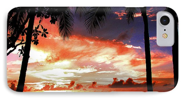 Hawaiian Sunset IPhone Case by Kristine Merc