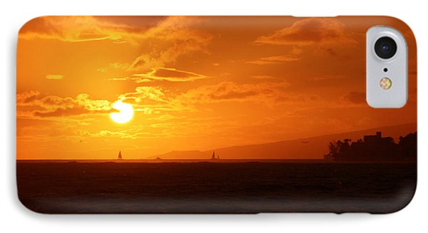 Hawaiian Sunset IPhone Case by Mary Mikawoz