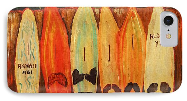IPhone Case featuring the painting Hawaiian Surfboards by Janet McDonald