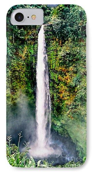 IPhone Case featuring the photograph Hawaiian Waterfall by Adam Olsen