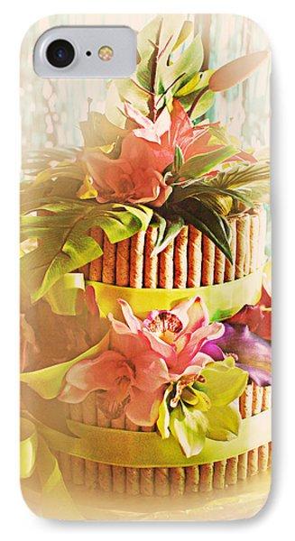 Hawaiian Wedding Cake Phone Case by Susan Bordelon