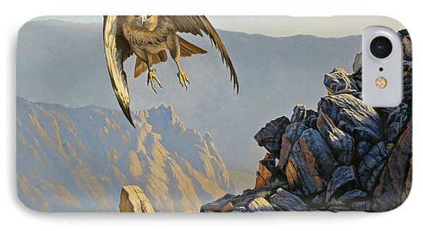 Hawk Above Beartooth Pass Phone Case by Paul Krapf