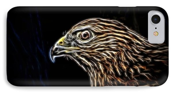 Hawk IPhone Case by Ludwig Keck