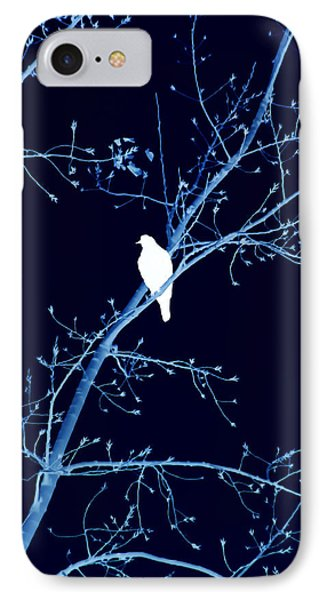 Hawk Silhouette On Blue IPhone Case by Lesa Fine