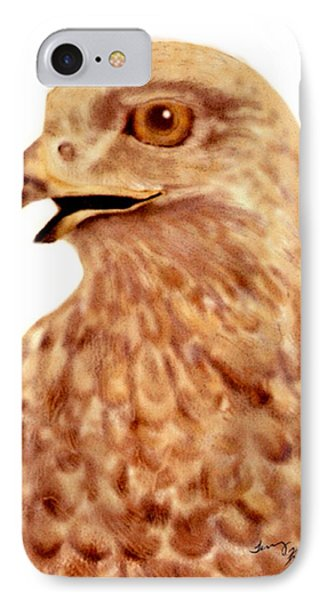 IPhone Case featuring the digital art Hawk by Terry Frederick