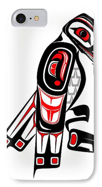 Hawk Totem IPhone Case by Fred Croydon