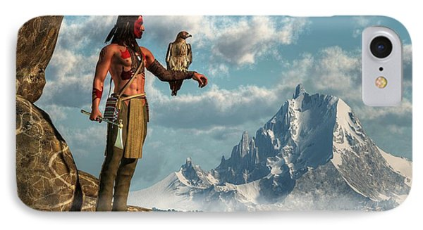 Hawk Warrior IPhone Case by Daniel Eskridge