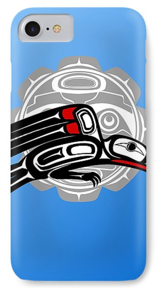 Hawk With Moon II IPhone Case by Fred Croydon