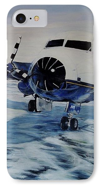 Hawker - Airplane On Ice Phone Case by Marilyn  McNish