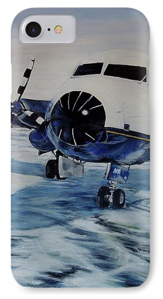 IPhone Case featuring the painting Hawker - Airplane On Ice by Marilyn  McNish