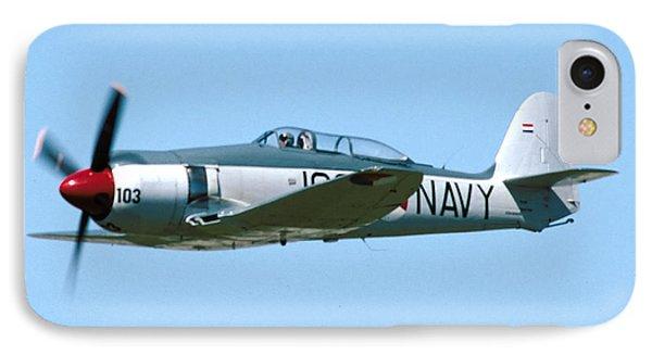 Hawker Sea Fury Nx51sf Flying Camarillo August 23 2003 IPhone Case by Brian Lockett