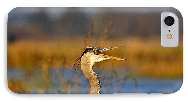 Hawking Heron Phone Case by Al Powell Photography USA